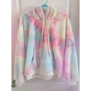 Cotton Candy Fuzzy POL Hoodie 💕